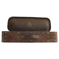 English Leather Binocular Case by F Ltd 1943