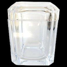 A Vintage Mid Cenrtury Multi Faceted Swivel Lidded Acrylic Ice Bucket