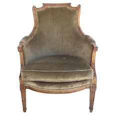 French Upholstered Directoire Armchair Bergere Early 19th Century