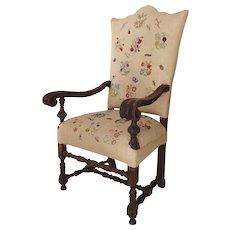 Italian 18th Century Walnut Armchair