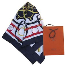 "Hermes Silk Scarf  ""Eperon D'or"" by Henri d'Origny"