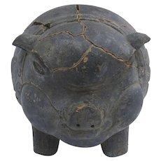 19th Century Terracotta Piggy Bank