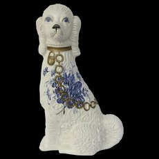 Vintage Large Ceramic Italian Poodle Dog Collar Made in Italy