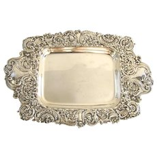 Sterling Silver Repousse Tray by Gorham c 1900