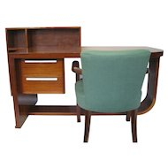 Art Deco Mahogany Desk and Chair