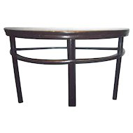 Two Chinese Ebonized Demilune Tables