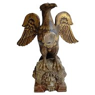 Wooden Eagle Sculpture