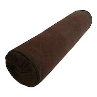 Brown Wool Bolster Pillow