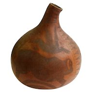 Carved Gourd Vessel