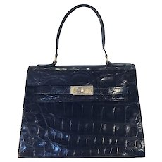Black Alligator Kelly Bag (not Hermes)