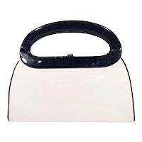 Mod Black and White Handbag