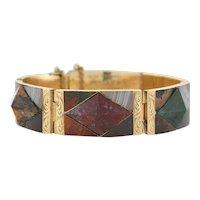 Victorian 15kt Gold & Scottish Agate Bracelet