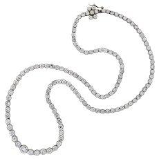 Contemporary Platinum Diamond Riviera Necklace 13.75ctw