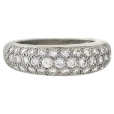 CARTIER Paris 18kt Classic Pavé Diamond Ring 1.50ctw