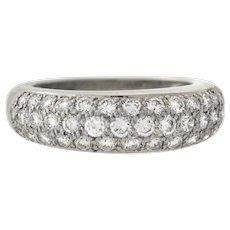 CARTIER Paris 18kt Classic Pavé Diamond Ring 1.50ctw