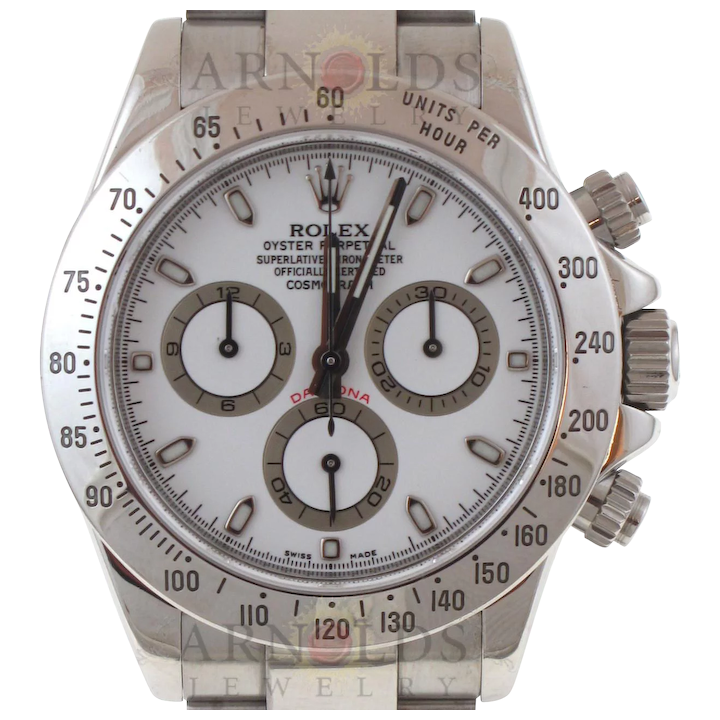 Pre-Owned 2008 Rolex Stainless Steel Daytona Watch With