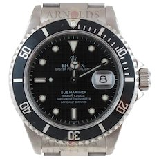 Pre-Owned 1997 Rolex Submariner Watch Stainless Steel With Black Dial and Black Bezel With Oyster Band Model 16610   PRICE - $5350.00