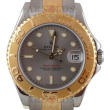 Pre-Owned 2003 Midsize Rolex Yachtmaster Watch Two Tone With Grey/Steel Dial Model# 168623   PRICE - $7200.00