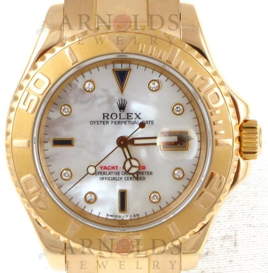 Pre Owned 1997 Rolex 18kt Yellow Gold Yachtmaster Watch