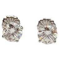 2.57 ctw Diamond Stud Earrings 14k White Gold