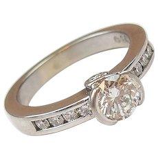 .80 ctw Diamond Engagement Ring 14k White Gold