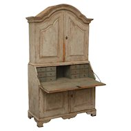 Antique Swedish Period Baroque Secretary, 18th Century