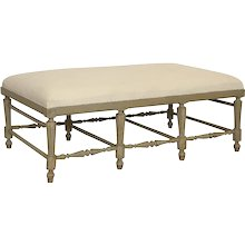 Antique Swedish Gustavian Style Large Painted Bench, Mid-19th Century
