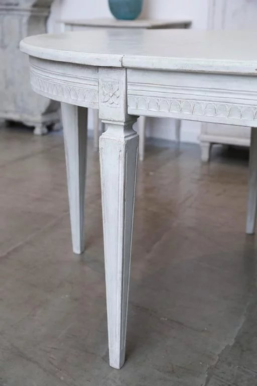 Antique Swedish Painted Dining Table, Late 19th Century ...