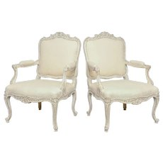 19th Century Antique Swedish Pair of Armchairs