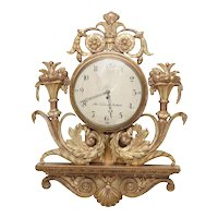 Early 19th Century Swedish Giltwood Wall Clock