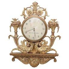 Early 19th Century Swedish Giltwood Wall Clock