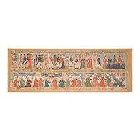 "Antique Swedish Folk Art Panal ""Bonad"", Early 19th Century"