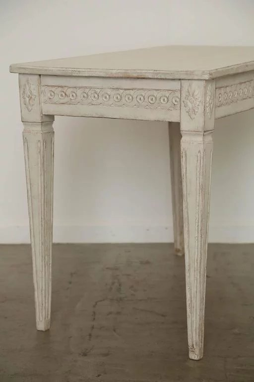 Antique Swedish Painted Gustavian Console Table Mid 19th