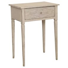 Antique Swedish Gustavian Style Small Table with Drawer, Mid-19th Century