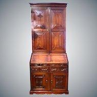 Anglo-Indian Padouk Wood Bureau Cabinet