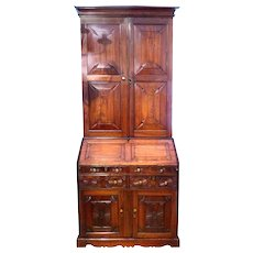 Anglo-Indian Padouk Wood Bureau Cabinet