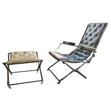 Folding Campaign Chair and Stool