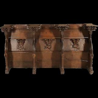Renaissance Gothic French Misericordia Bench