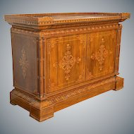 French Inlaid Cabinet attributed to Jeanselme, Paris