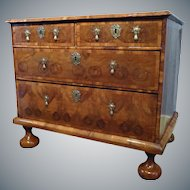 William & Mary Oyster Veneered Chest