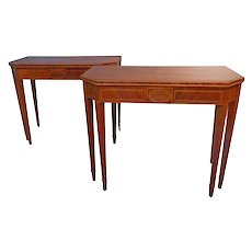 Pair of Mahogany Card Tables