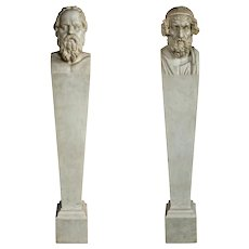 Pair of Marble Pedestals/Terms