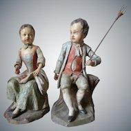Pair of German Sculptures