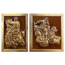 Pair of 18th Century Italian Carvings