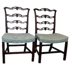 Pair George III Mahogany Chairs
