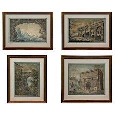 Set of 4 Italian Watercolours