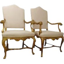 Pair Venetian 18th Century Armchairs