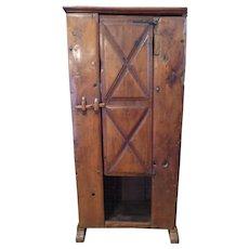 Early Rustic Walnut Cupboard