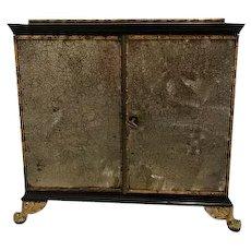 Rare Regency Collectors Cabinet
