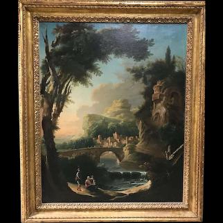 Italian 18th century landscape painting